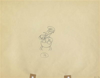 Original Production Drawing of Donald Duck from Orphans Benefit