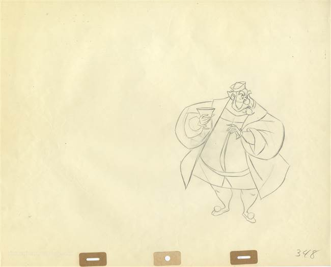 Original Production Drawing of King Hubert from Sleeping Beauty