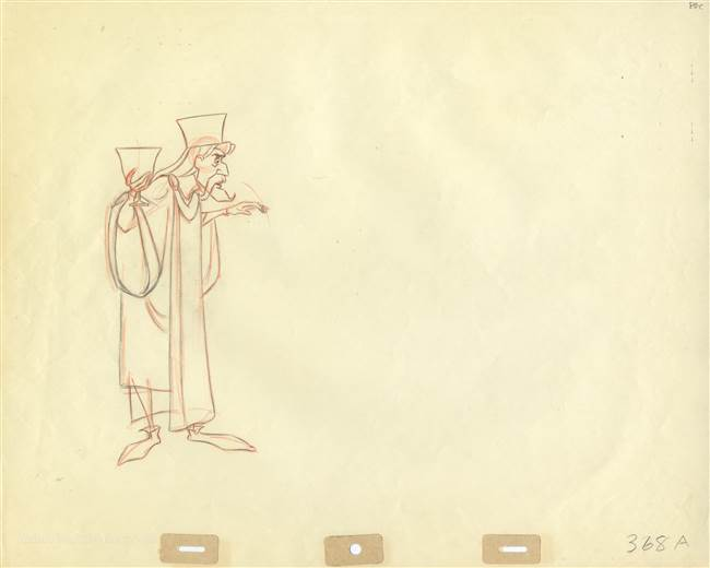 Original Production Drawing of King Stefan from Sleeping Beauty