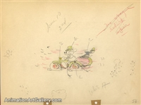 Production Drawing of Mickey Mouse and Donald Duck from Dognapper