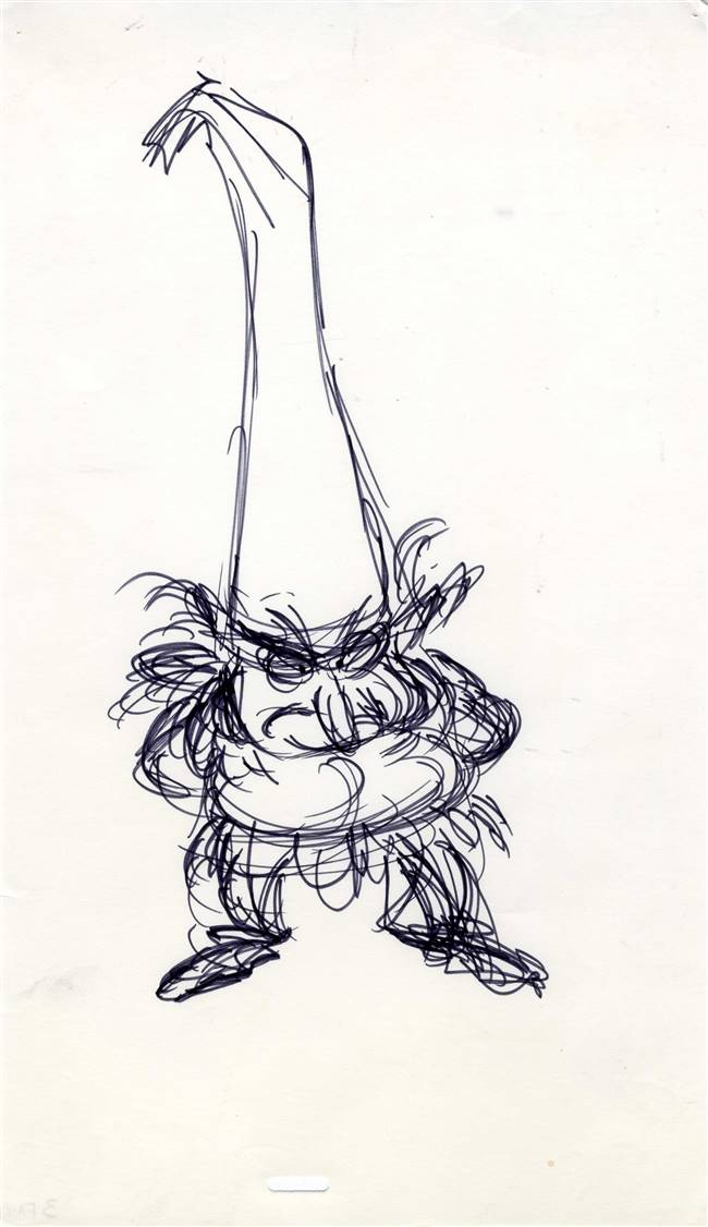 Original Model Drawing of Doli from Black Cauldron (1985)