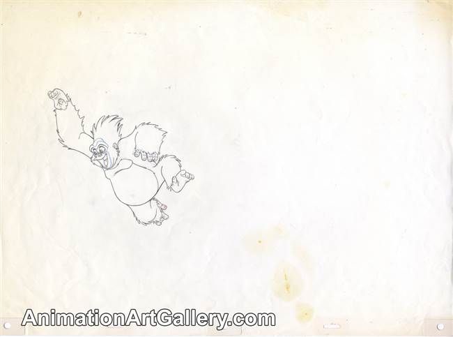 Production Drawing of Terk from Tarzan