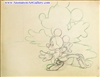 Production Drawing of Mickey Mouse from Fantasia