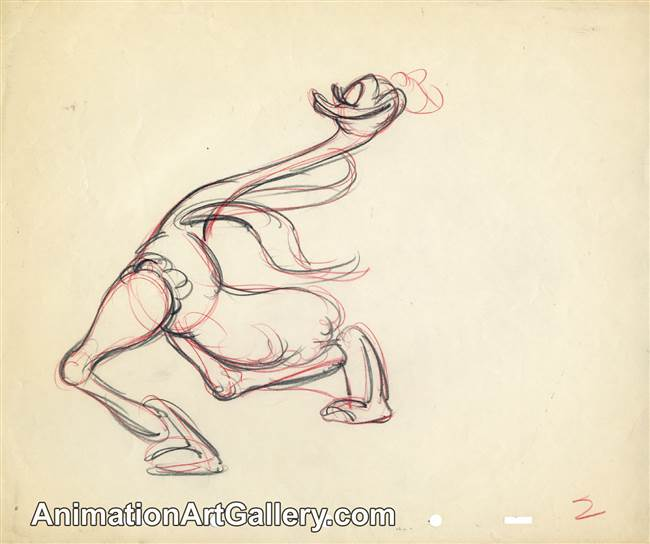 Production Drawing of Mlle. Upanova from Fantasia