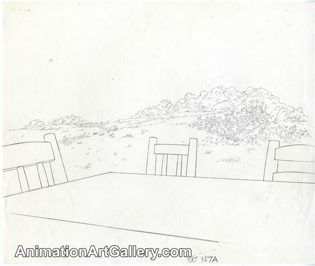 Layout Drawing from Winnie the Pooh and a Day For Eeyore