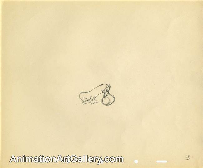 Original Production Drawing of Salty the Seal from Disney
