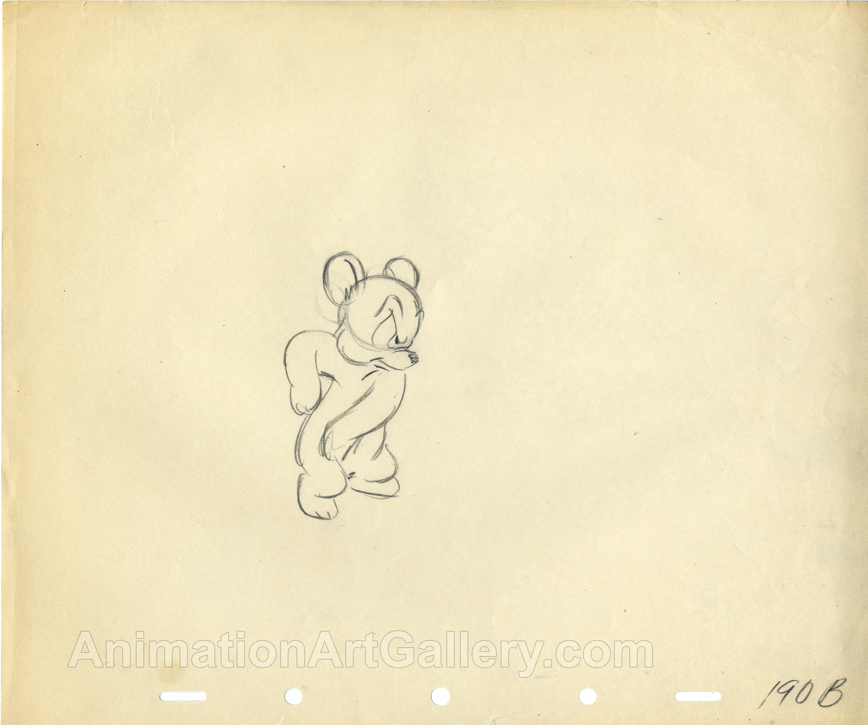 Original Production Drawing of s bear cub from Disney