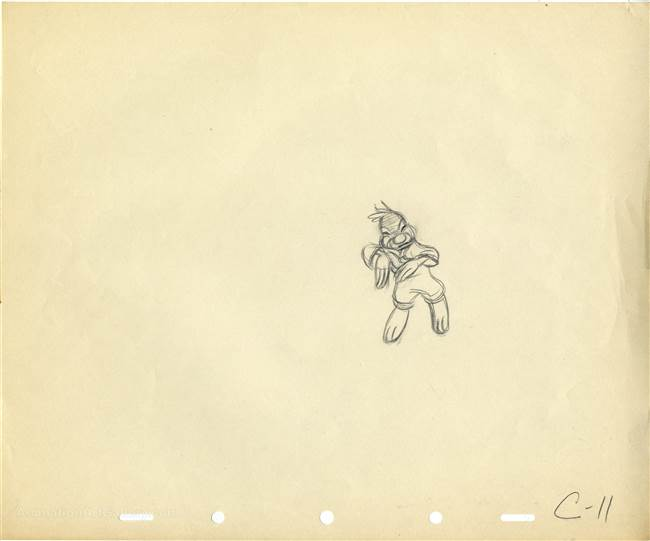 Original Production Drawing of Brer Rabbit from Song of the South