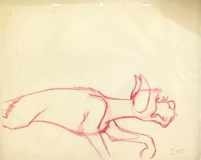 Original Production Drawing of Tramp from Lady and the Tramp (1955)
