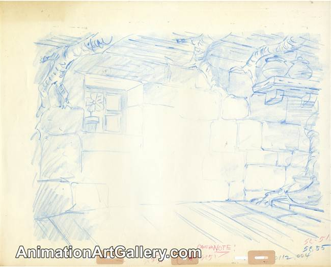 Layout Drawing of a cottage from Robin Hood
