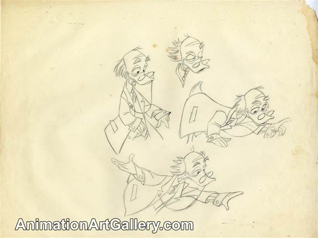 Character Study of Ludwig Von Drake from Disney Studios (c. 1950s)
