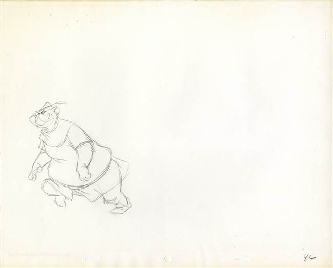 Production Drawing of Little John from Robin Hood