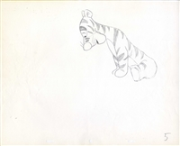Original Production Drawing of Tigger from Winnie the Pooh and Tigger Too