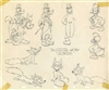 Model Sheet Drawing of Goofy and Donald Duck from The Fox Hunt