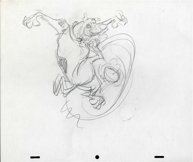 Original Publicity Drawing of Scooby Doo