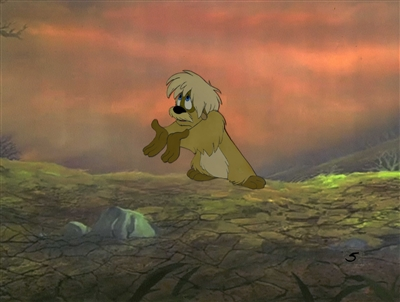 Original Production Cel of Gurgi from Black Cauldron (1985)