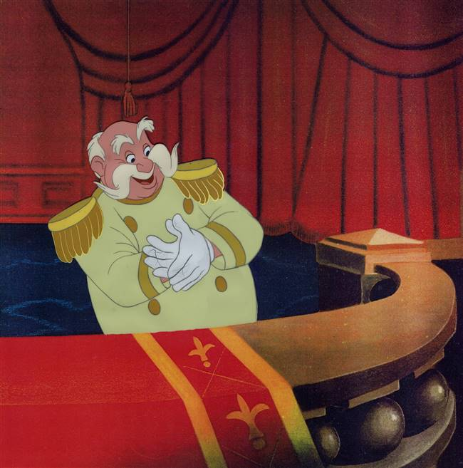 Original Production Cel of the King from Cinderella