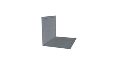 Outside Corner Cap Galvanized 10' L for 7.2 Metal Roofing