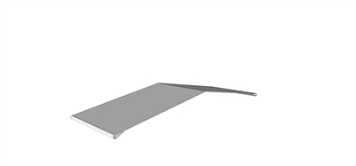 Ridge Cap Galvanized 10' L for 7.2 Metal Roofing