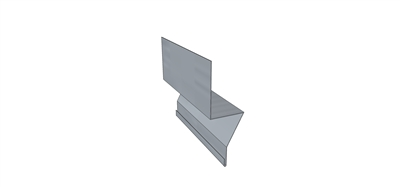 Rodent Guard Cap Galvanized 10' L for 7.2 Metal Roofing