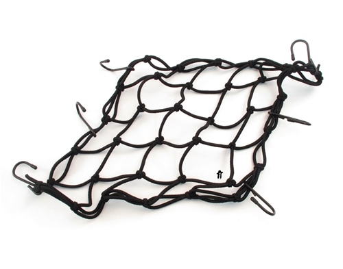 "Black Moped Cargo Net - 15"" x 15"""