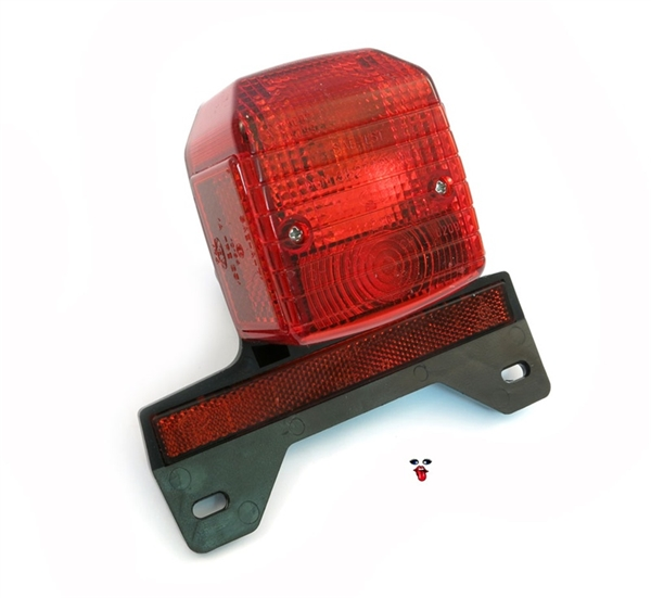 Original CEV tail light with license plate bracket