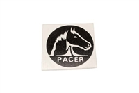 Round Pacer Logo Decal