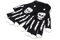 LED Finger Skully Riding Gloves