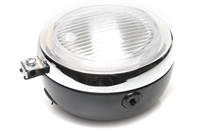 Black and Chrome Moped Headlight