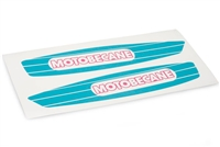 Motobecane 40T Moped Teal/Pink Gas Tank Decals