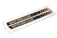 Motobecane Moped Blk/Gold Gas Tank Decals