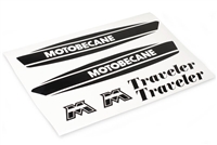 Motobecane Traveler Moped Black Gas Tank Decals