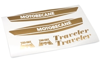 Motobecane Traveler Moped Gold Gas Tank Decals