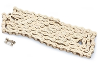 "1/8"" Gold Moped Pedal Chain - 112 Links"