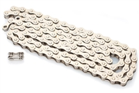 "1/8"" Silver Moped Pedal Chain - 112 Links"