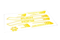 Puch Magnum BRIGHT YELLOW Decal Set