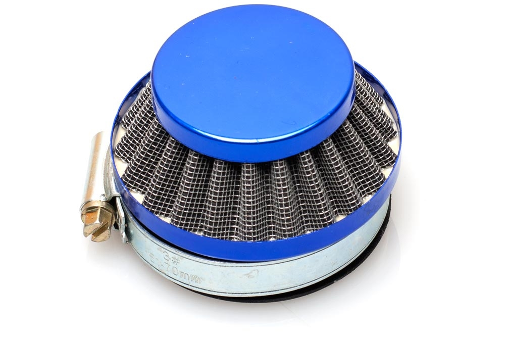 Dellorto Air Cleaner : Dellorto sha mm shorty air filter blue