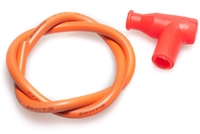 7mm Performance Racing Orange Moped Spark Plug Wire & Boot