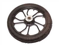 "Used Tomos Moped 16"" Black Rear Mag Wheel"