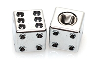 CHROME DICE Valve Stem Caps