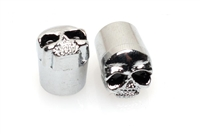 Chrome SKULL Valve Stem Caps