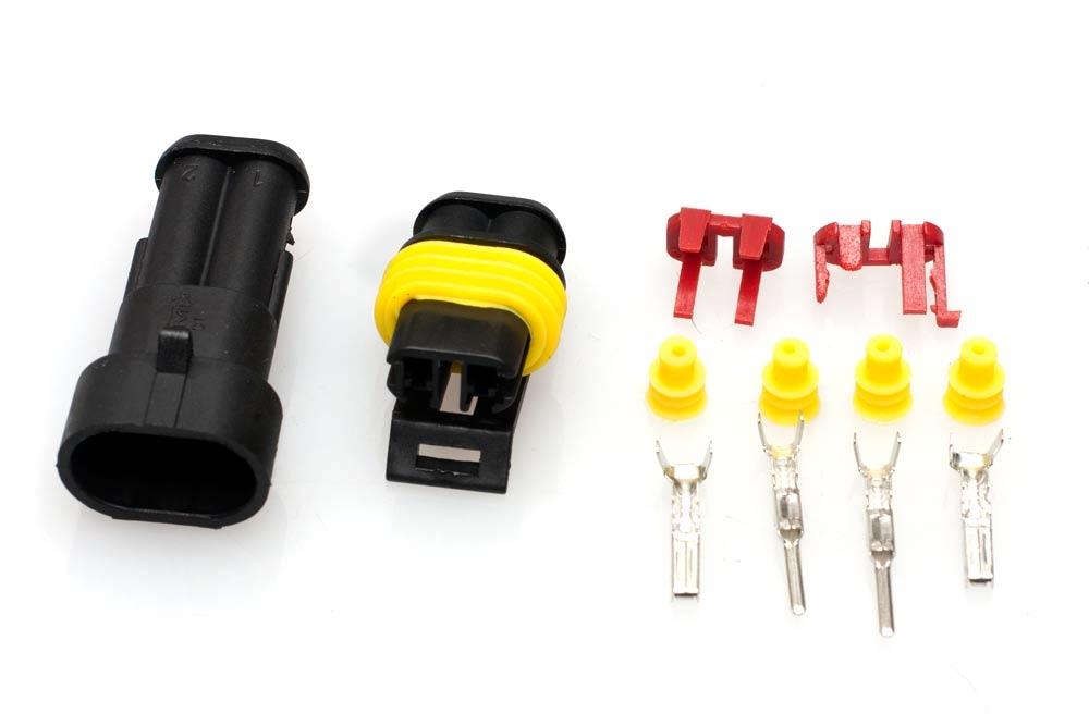 2 Pin Waterproof Wire Connector Terminal Waterproof Wiring Connector on