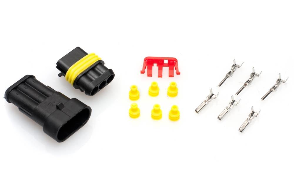 3 Pin Waterproof Wire Connector Terminal Waterproof Wiring Connector on