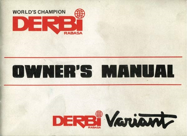 Derbi variant moped owners manual free pdf download publicscrutiny Choice Image