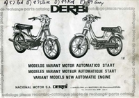 Free Derbi Variant Moped Spare Parts Catalog Manual