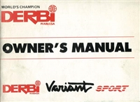 Free Derbi Variant SPORT Owners Manual