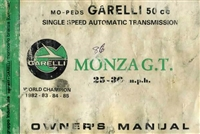 Free Garelli Monza Moped Owners Manual