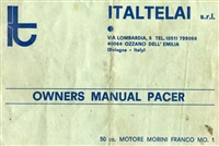 Free Morini Pacer Moped Owners Manual