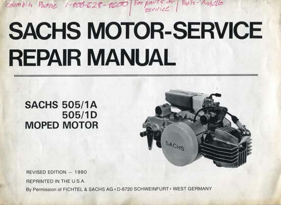 free sachs 505 moped engine repair manual rh lucky2strokes com Sachs Moped Old Sachs Engine Parts