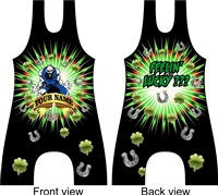 Sublimated wrestling singlet